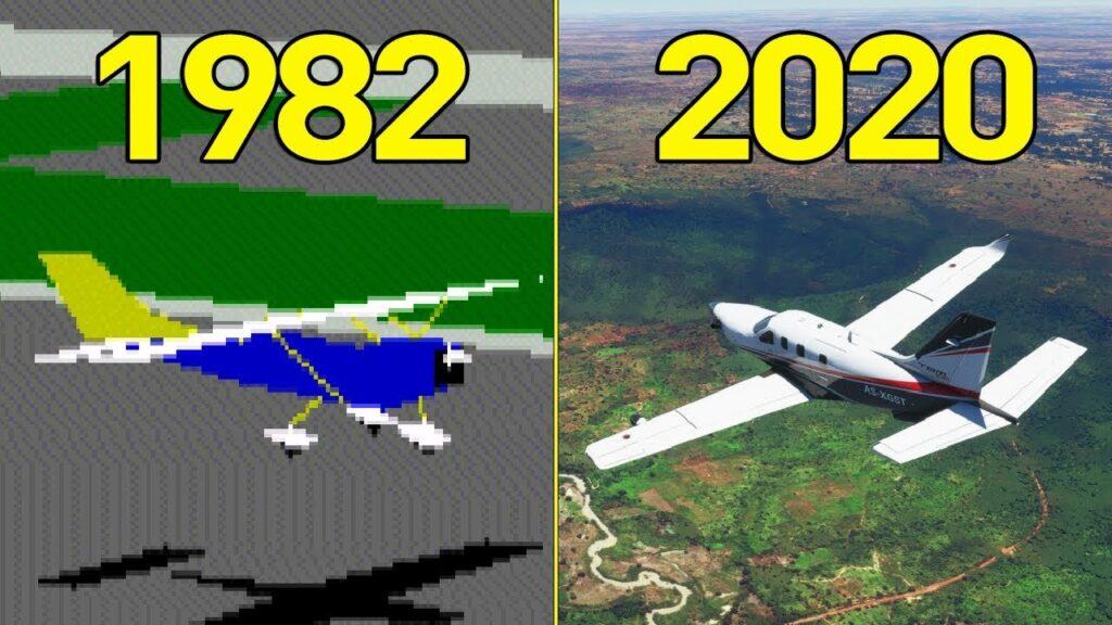 1982 and 2020 Flight Simulator