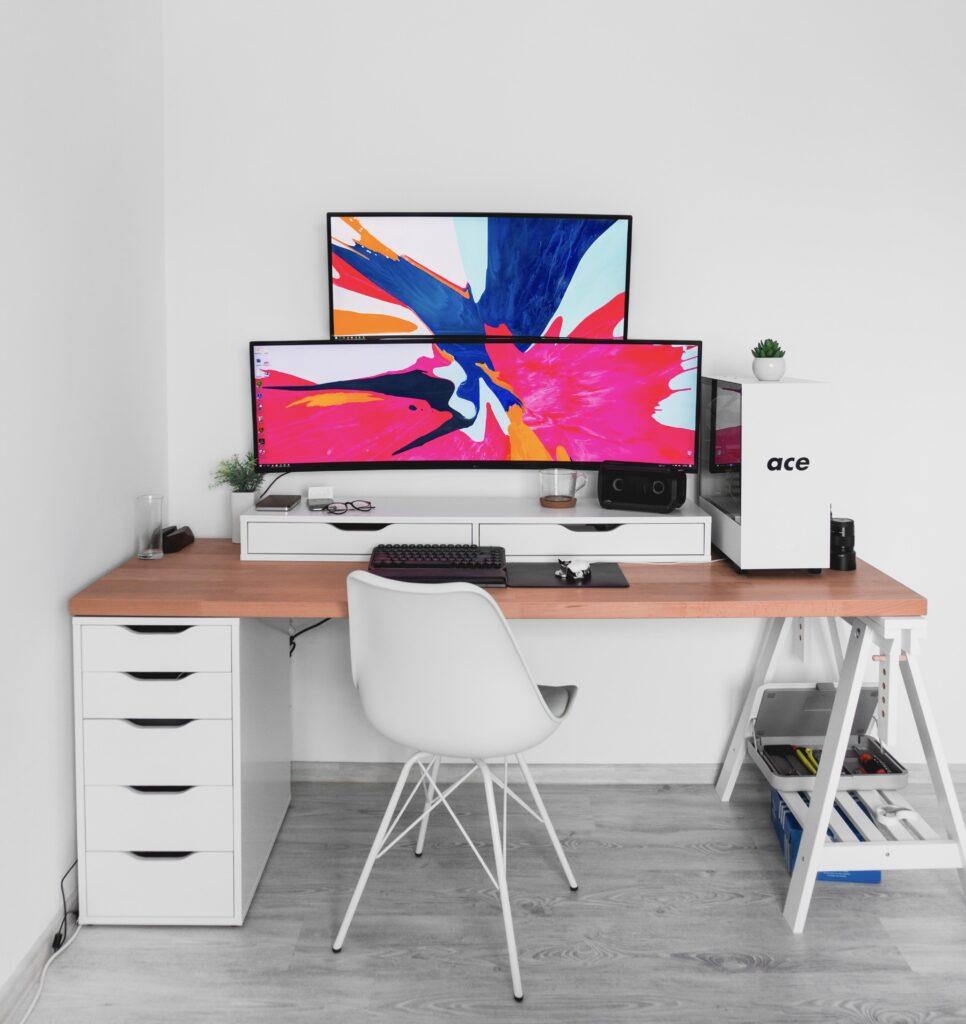 computer setup monitor